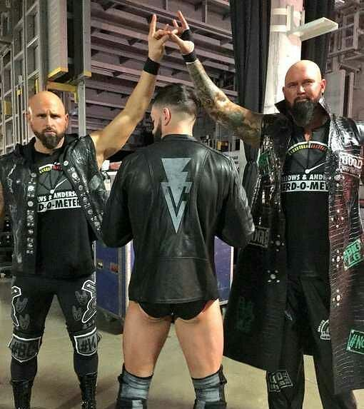 The Bullet boys are reunited. #WWE #WWERaw saw the debut of The #BulletClub as The Balor Club and it was Too Sweet!