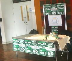Christian Union Information Table Vandalised