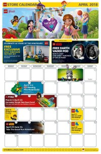 LEGO April 2018 Store Calendar Promotions & Events - The ...