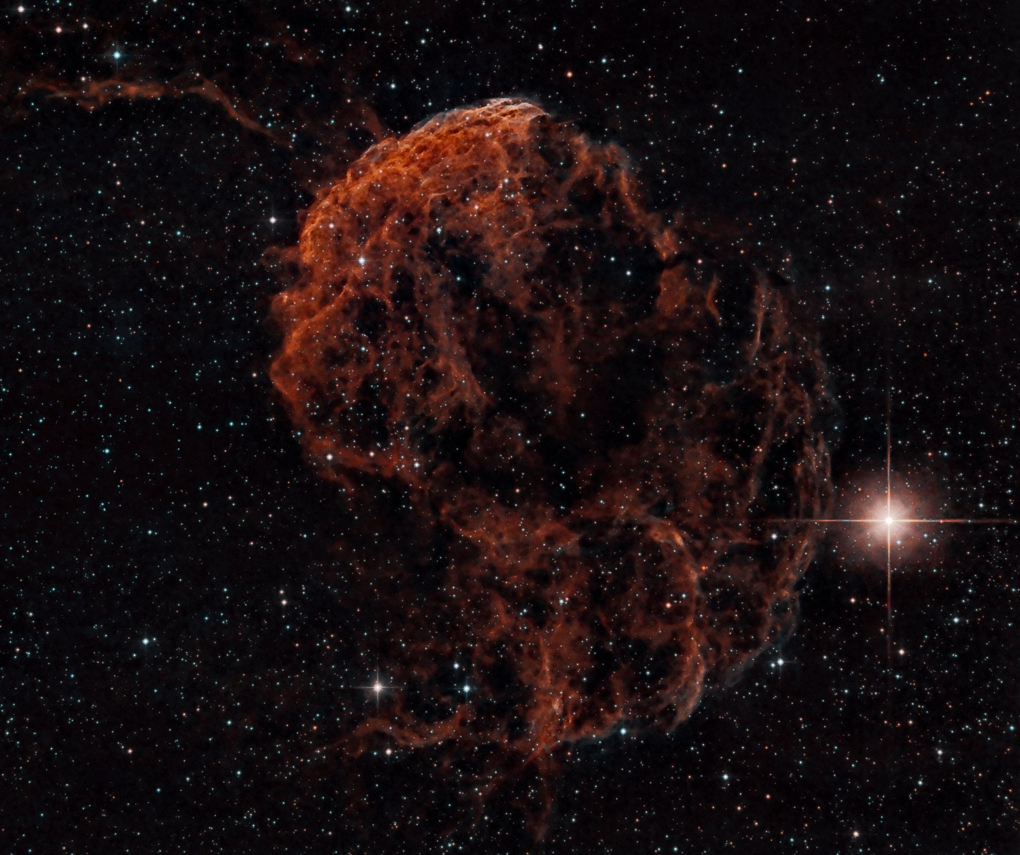 IC 443 Jellyfish Nebula Narrowband