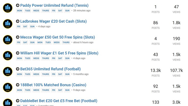 Matched Betting Reload Forum