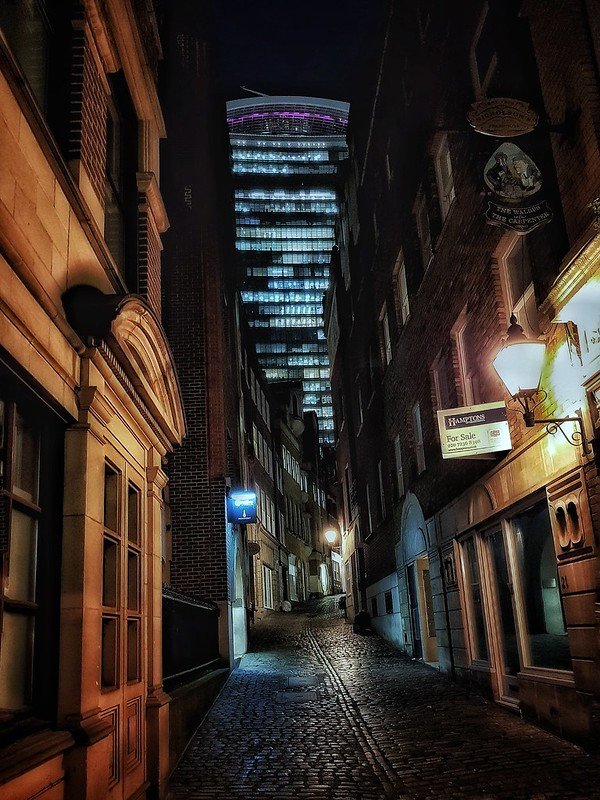 Narrow lanes and tall towers