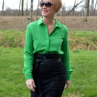 Outfit of the week: Green blouse