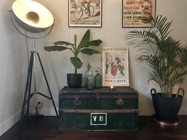 Kist plant posters muur