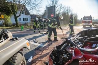 Kreuzungsunfall Kiedricher Str. Eltville 05.02.18