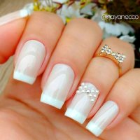 Beautiful White Tip Nails Designs for 2018 - Fashionre