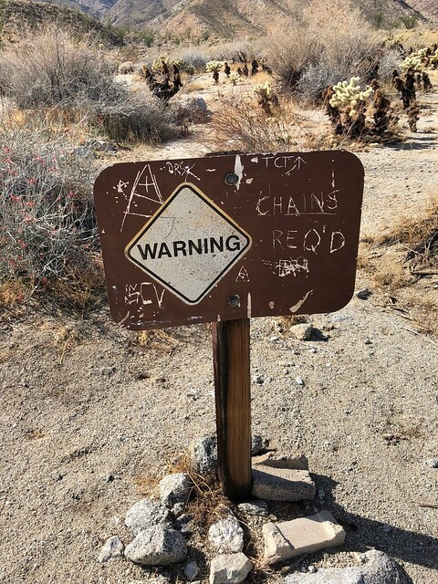 Borrego Springs - warning sign nothing