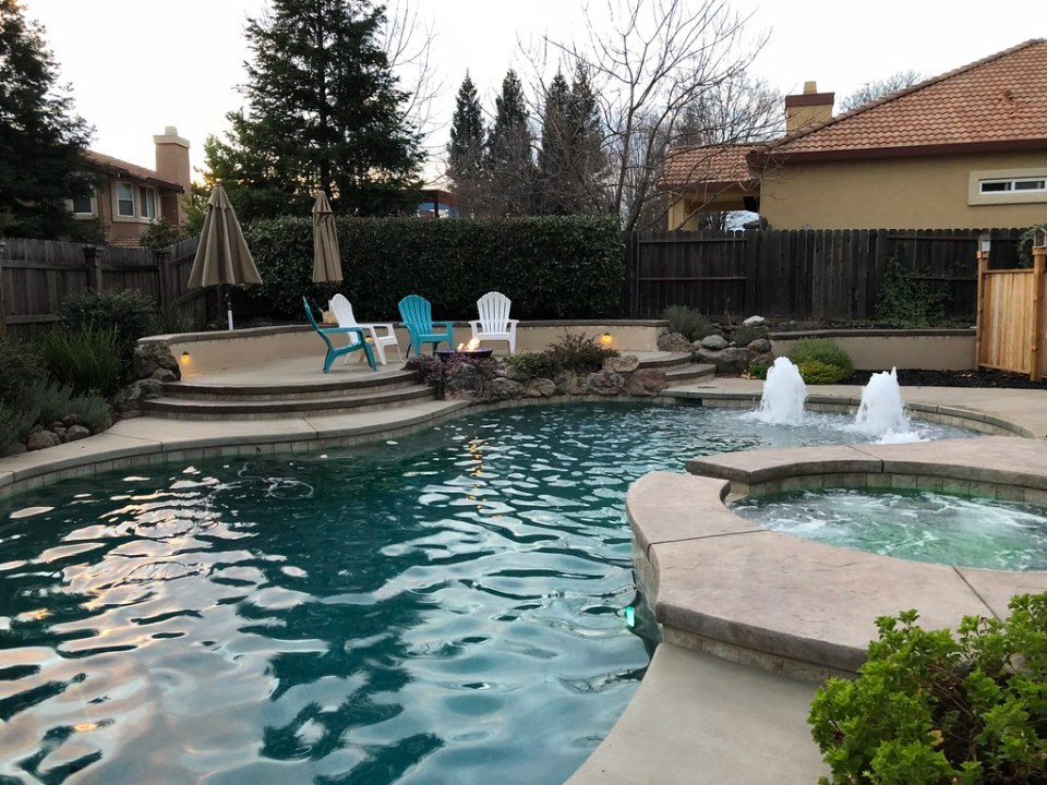 Pool, Spa, and Fire Bowl