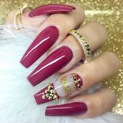 trendy long nails art design