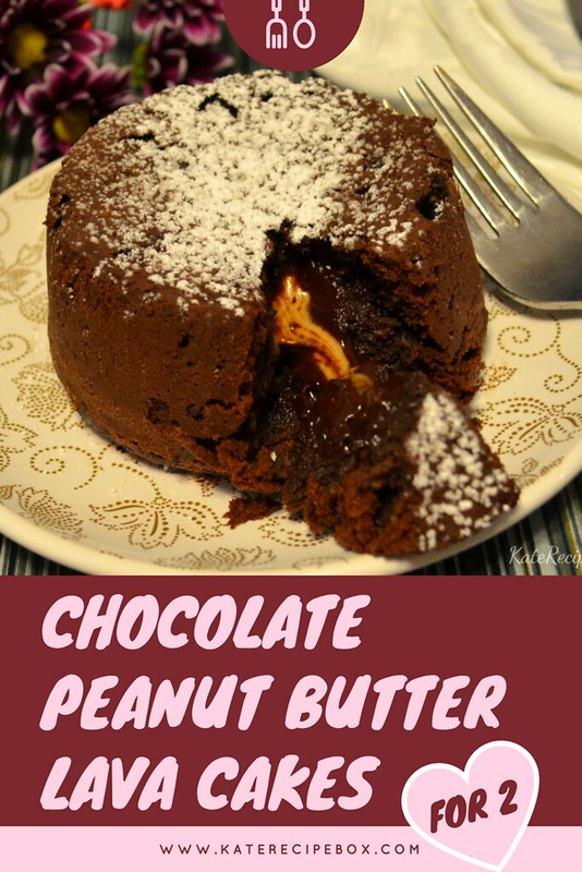 Chocolate Peanut Butter Lava Cakes