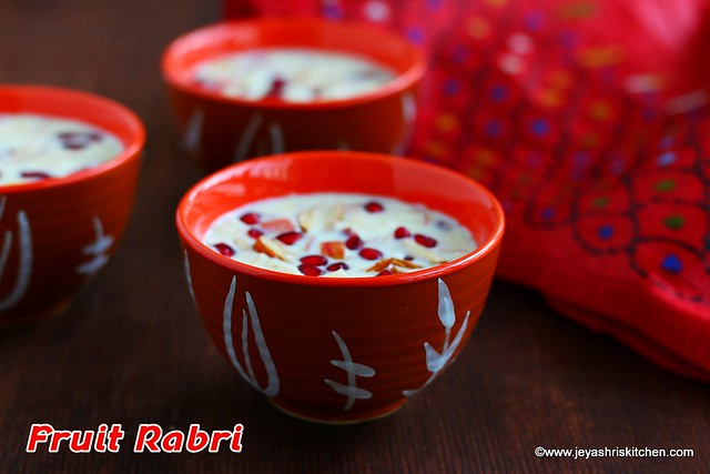 Fruit-Rabri recipe