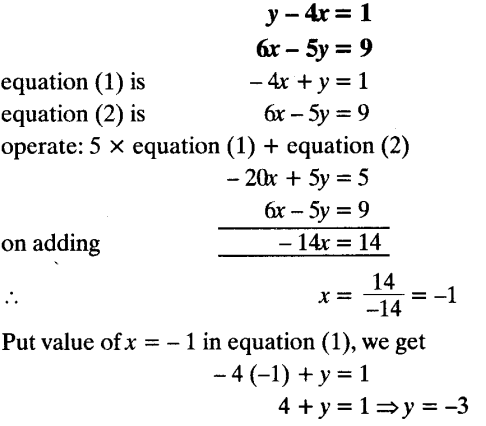 Important Questions for Class 10 Maths Chapter 3 Pair of