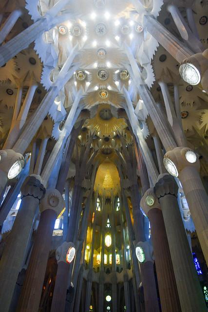 Vaulted ceiling of La Sagrada
