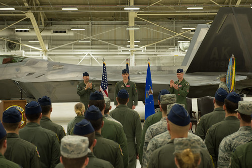 90th FS change of command ceremony