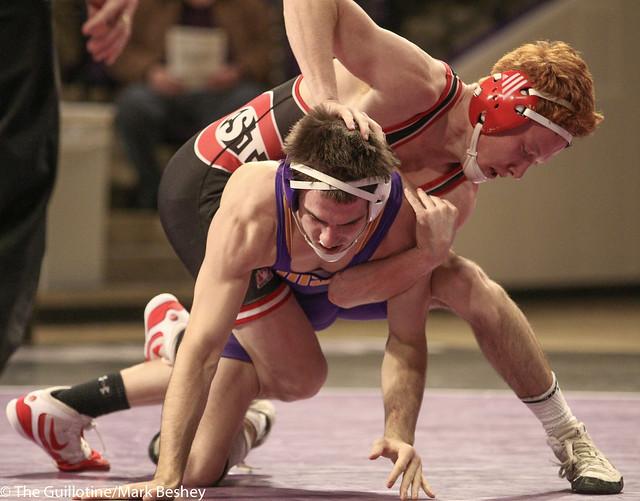 141: #3 Jared Oftedahl (SCS) Dec. over Louie Sanders (MSU) 1-0   SCS 3-0 MSU - 180203amk0003