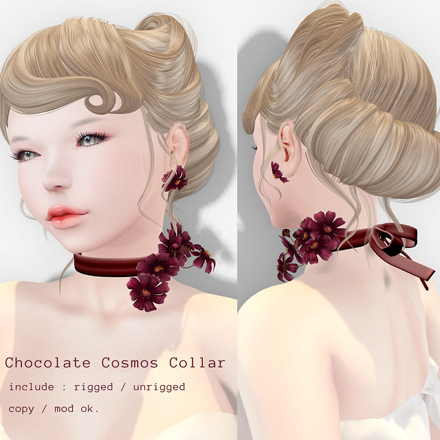 *NAMINOKE*Chocolate Cosmos Collar
