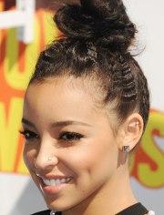 bun hair ideas - updo hairstyles