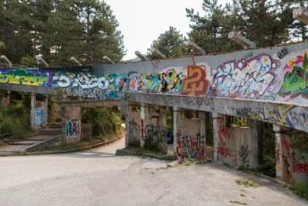 Sindsdien wordt de baan alleen nog gebruikt door graffiti artiesten.