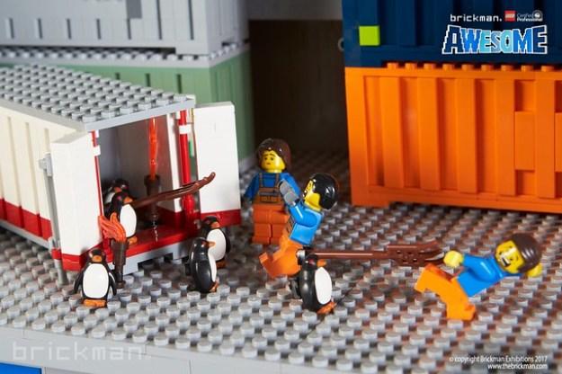 LEGO® Brick Icebreaker penguin attack!