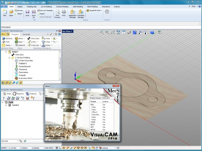 Working with MecSoft VisualCADCAM 2018 full license