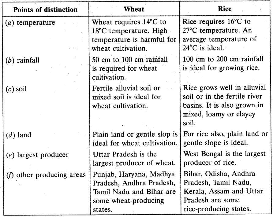 Agriculture Chapter Wise Important Questions Class 10 Social Science
