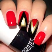 ideas of beautiful red nail