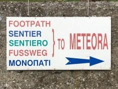 Foot Path Meteora