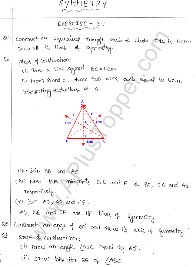 ML Aggarwal ICSE Solutions for Class 10 Maths Chapter 13