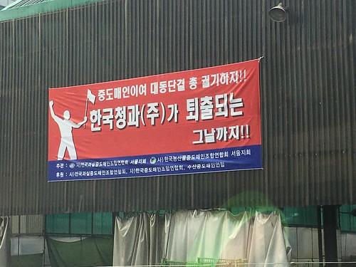 가락시장 중도매인들의 한국청과 퇴출 운동
