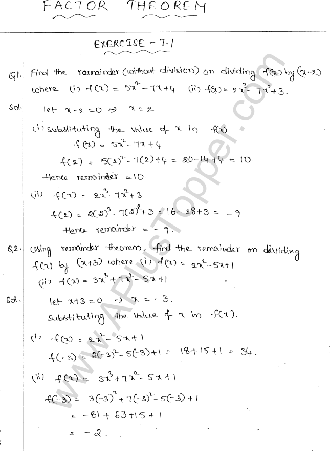 ml-aggarwal-icse-solutions-for-class-10-maths-ch-7-factor-theorem-1