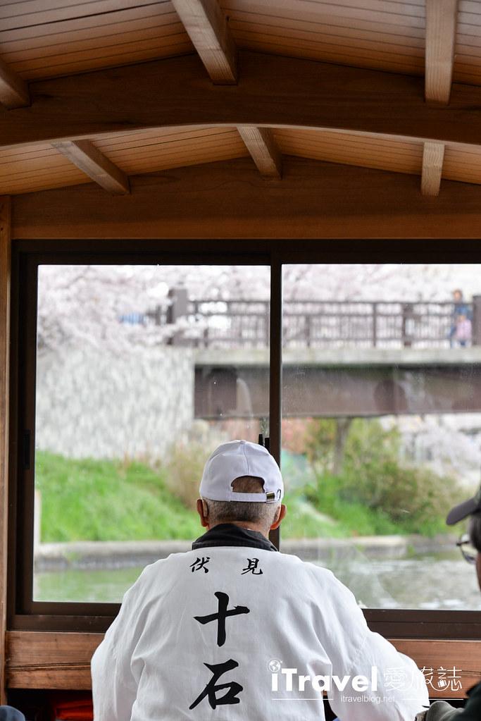 京都赏樱景点 伏见十石舟 (16)
