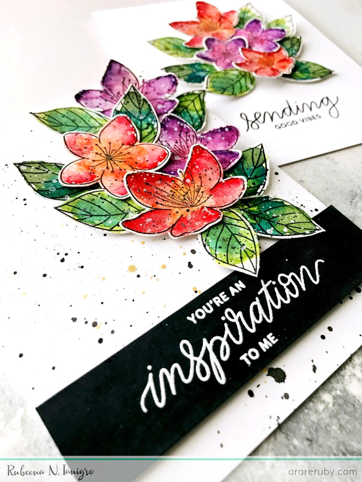 PPP March Blog - Floral Card Set 2 - Rubeena Ianigro