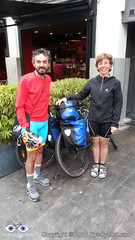Giovanni and wife were also cycling from Canterbury to Rome