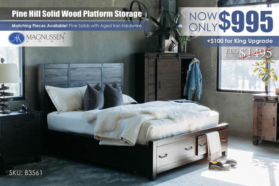 Pinehill Platform Storage Bed Update