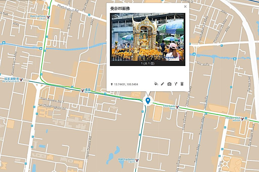 Erawan Shrine Map