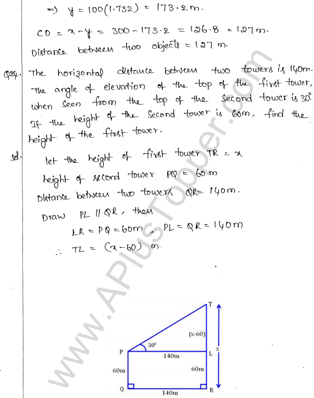 ml-aggarwal-icse-solutions-for-class-10-maths-chapter-21-heights-and-distances-24