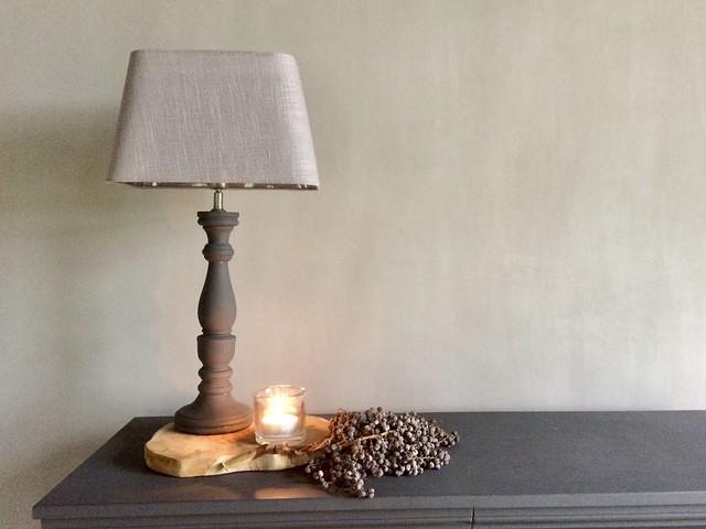 Lamp landelijke stijl, dadeltak, windlicht