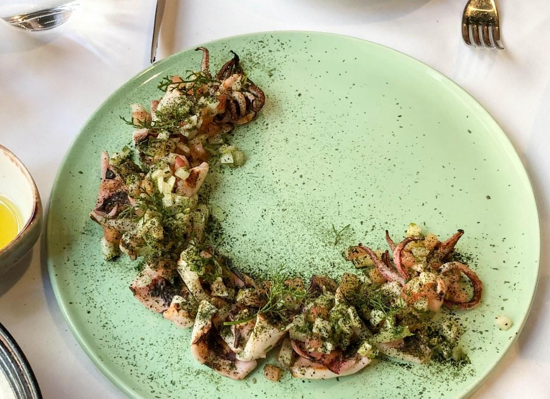 Charcoal Grilled Calamari