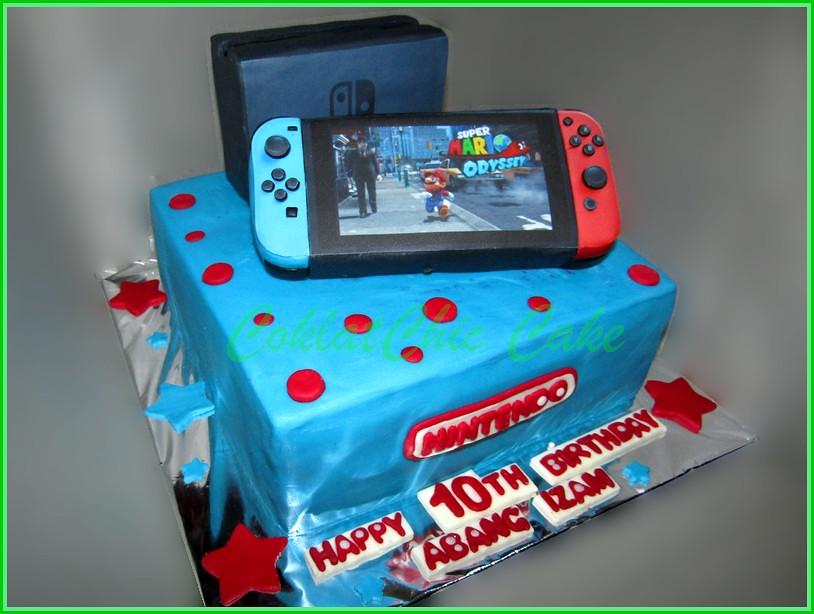 Cake Nintendo Switch Abang Izam Coklatchic Cake