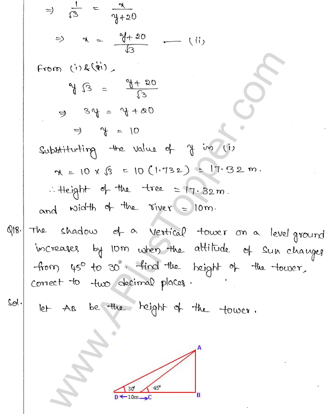 ml-aggarwal-icse-solutions-for-class-10-maths-chapter-21-heights-and-distances-17