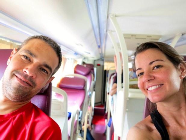 Sleeper bus en Vietnam