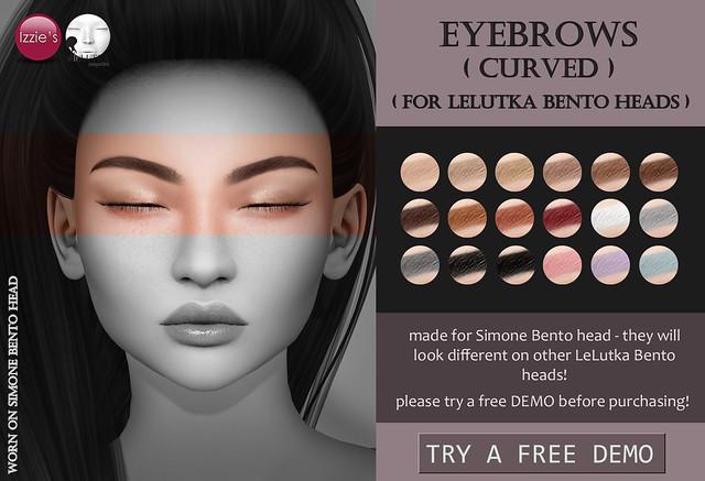 Lelutka Eyebrows curved