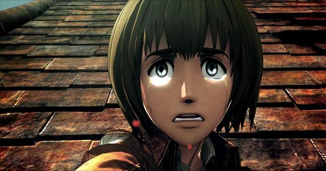 Attack On Titan 2 - Armin mira como un cobarde