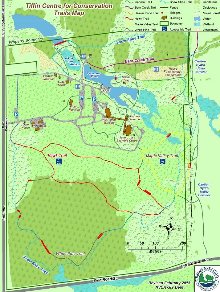 Tiffin Centre Trail Map