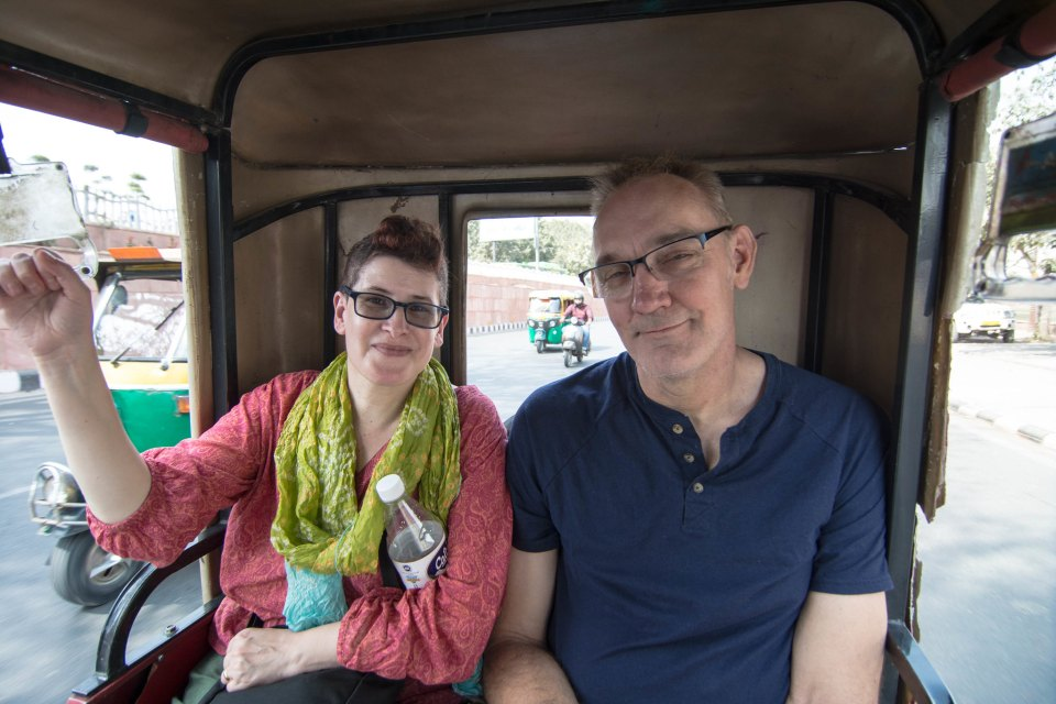 A short ride in electric rickshaw