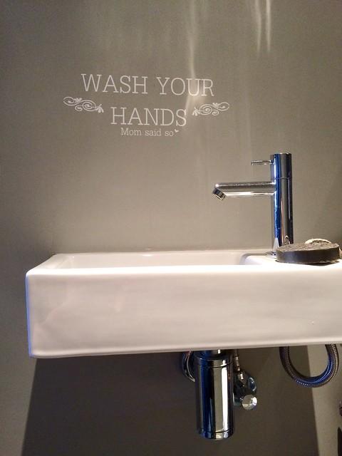 Tekst muur toilet
