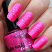 hot pink and black acrylic