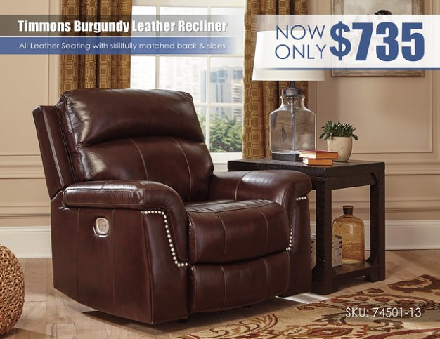 Timmons Burgundy Recliner_74501-13