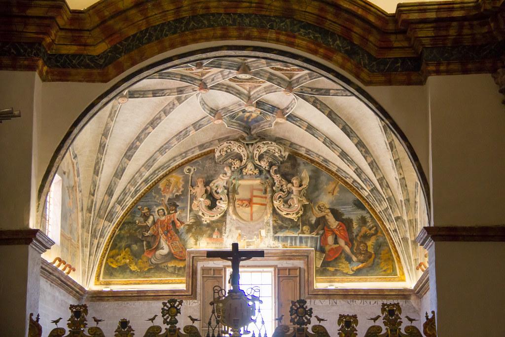 boveda y techo del coro interior Catedral del Salvador de Albarracin Teruel 02