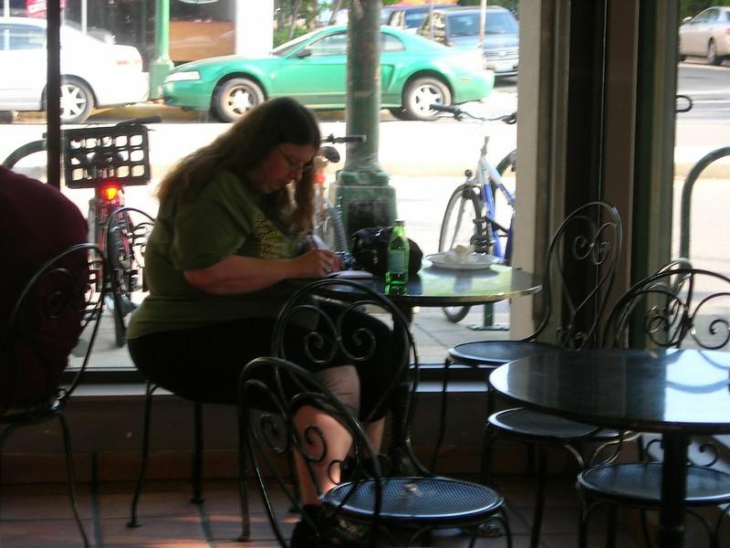 Writing at Bonjour Bakery Cafe